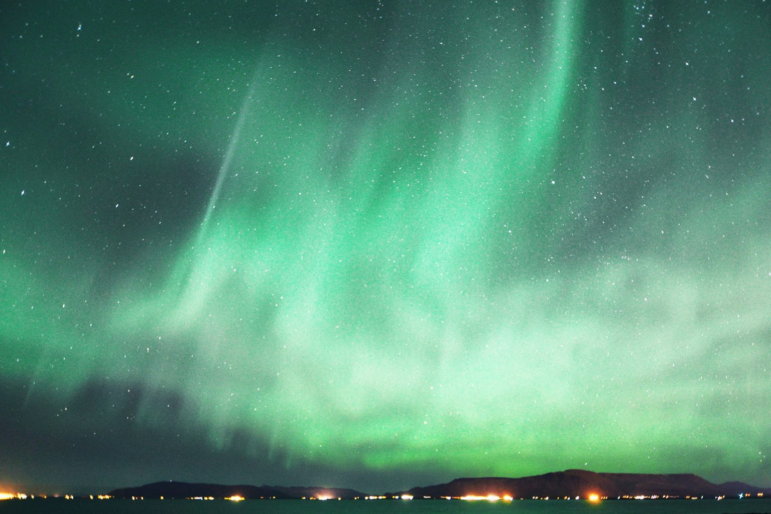 massive northern lights in the sky in arkurary