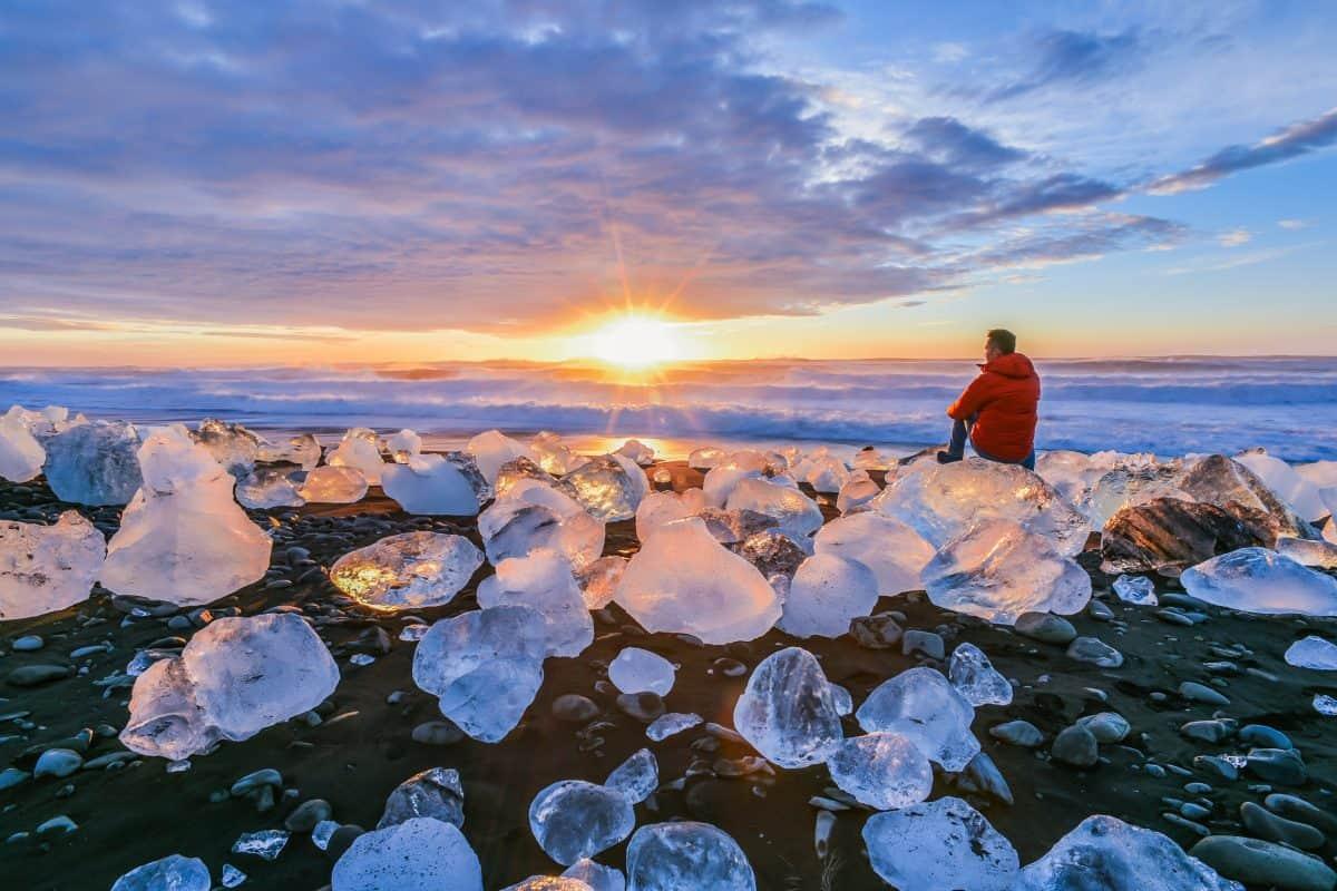 The Diamond Beach in South Iceland
