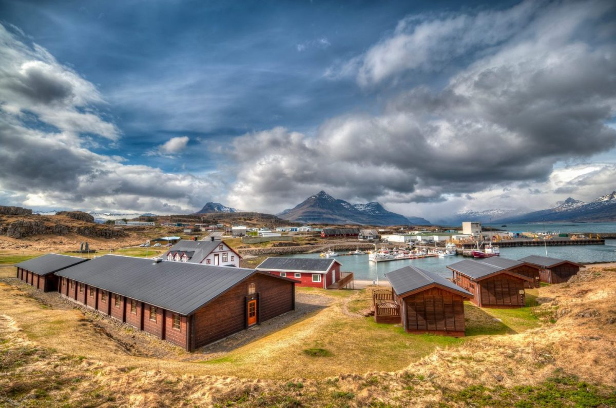 wooden summer cabins in iceland