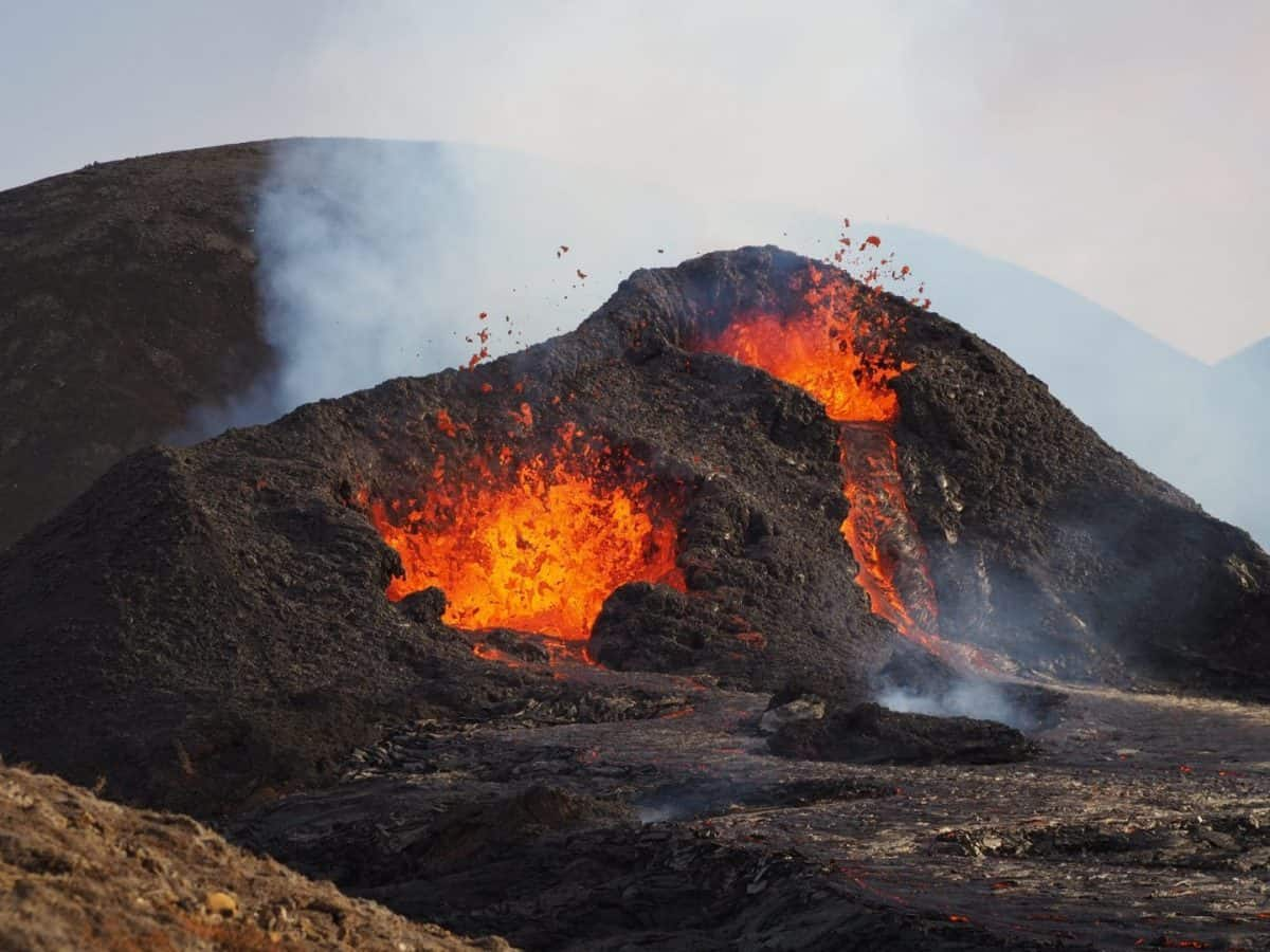 The eruption of Fagradalsfjall volcano in Iceland