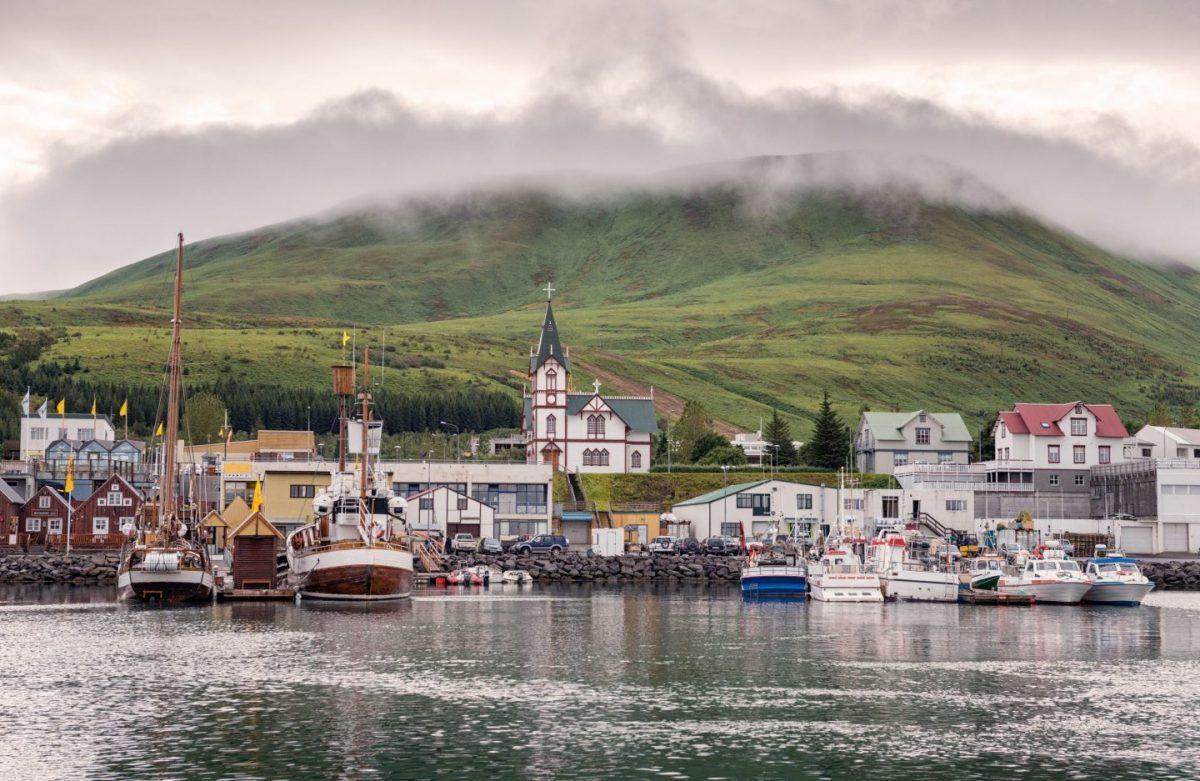 icleandic fishing town husavik
