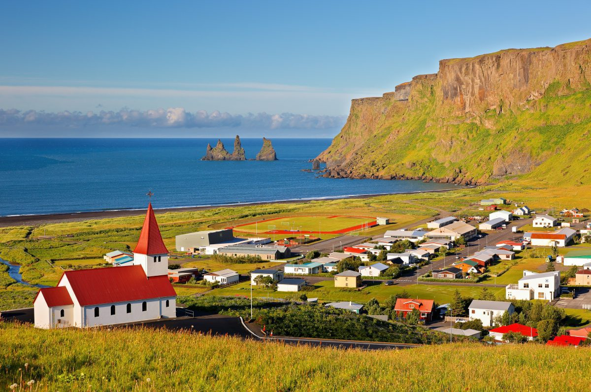 beautiful village Vik in south iceland