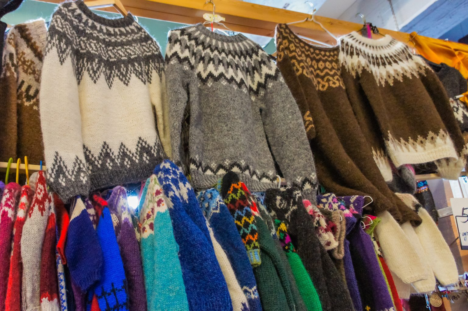 The Icelandic Lopapeysa wool sweater