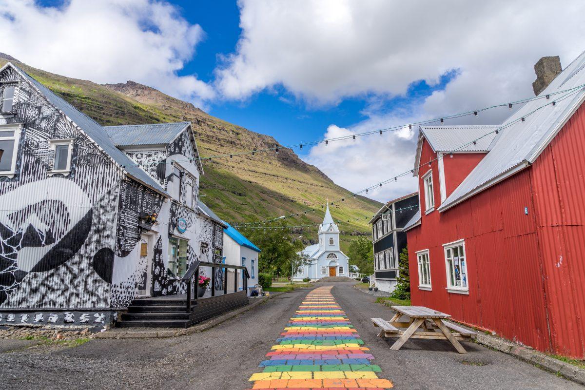 Seyðisfjörður town and its church