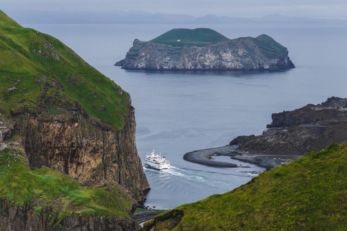 Westman Islands Iceland ferry departing