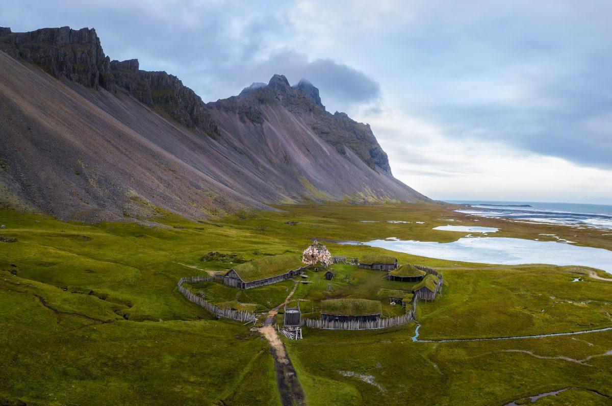 The Viking Village at Stokksnes Peninsula.