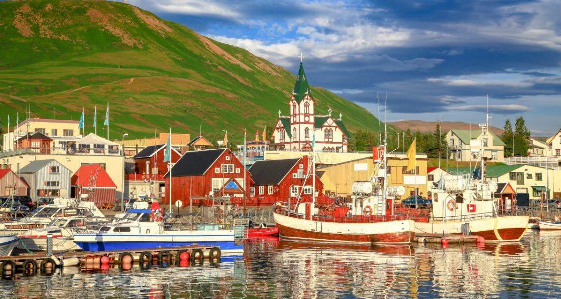 husavik fishing village in iceland