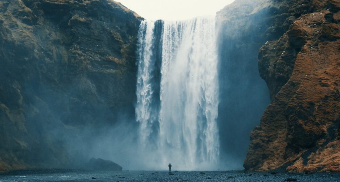 skogafoss waterfall in south iceland featured in game of thrones