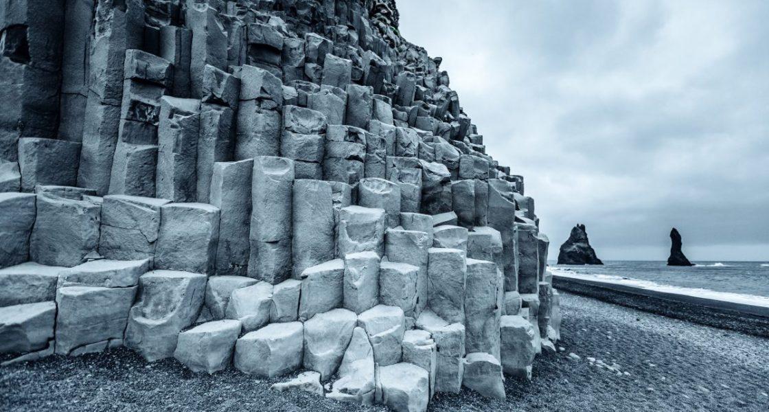 reynisfjara black sand beach and basalt columns