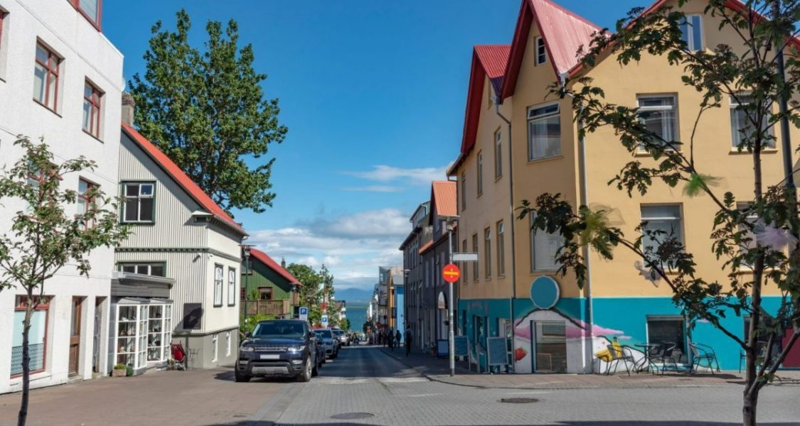 Street,In,Reykjavik,City,Center