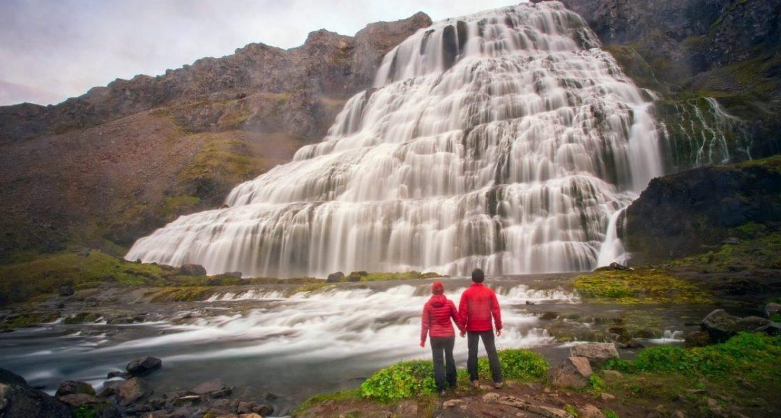 dynjandi waterfall in Westfjords iceland