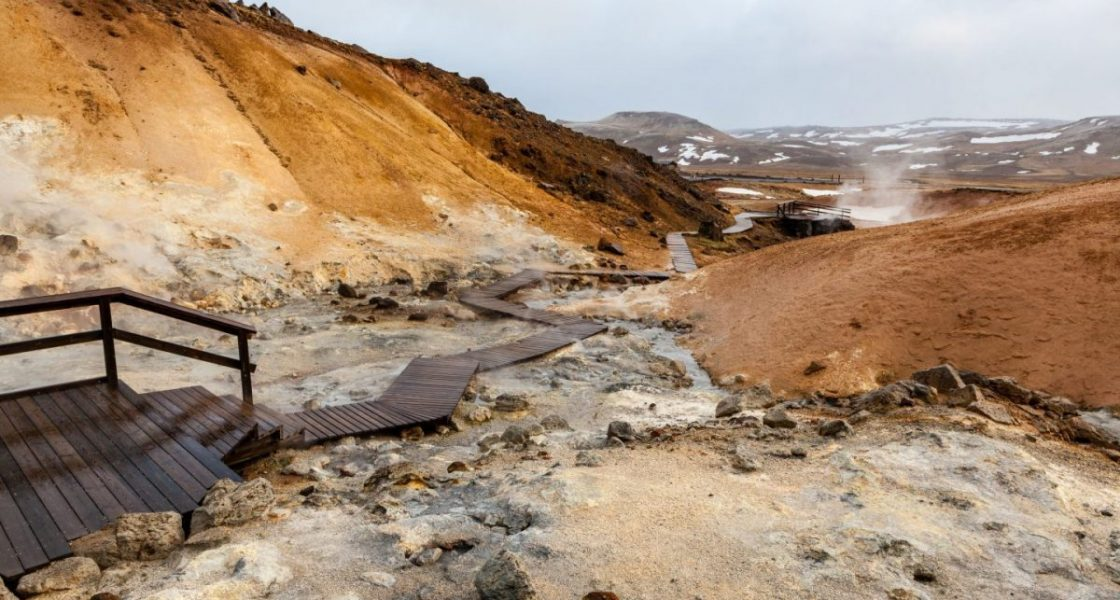 Krýsuvík geothermal area in reykjanes iceland