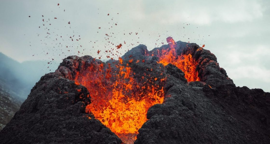 Fagradalsfjall volcano eruption in iceland