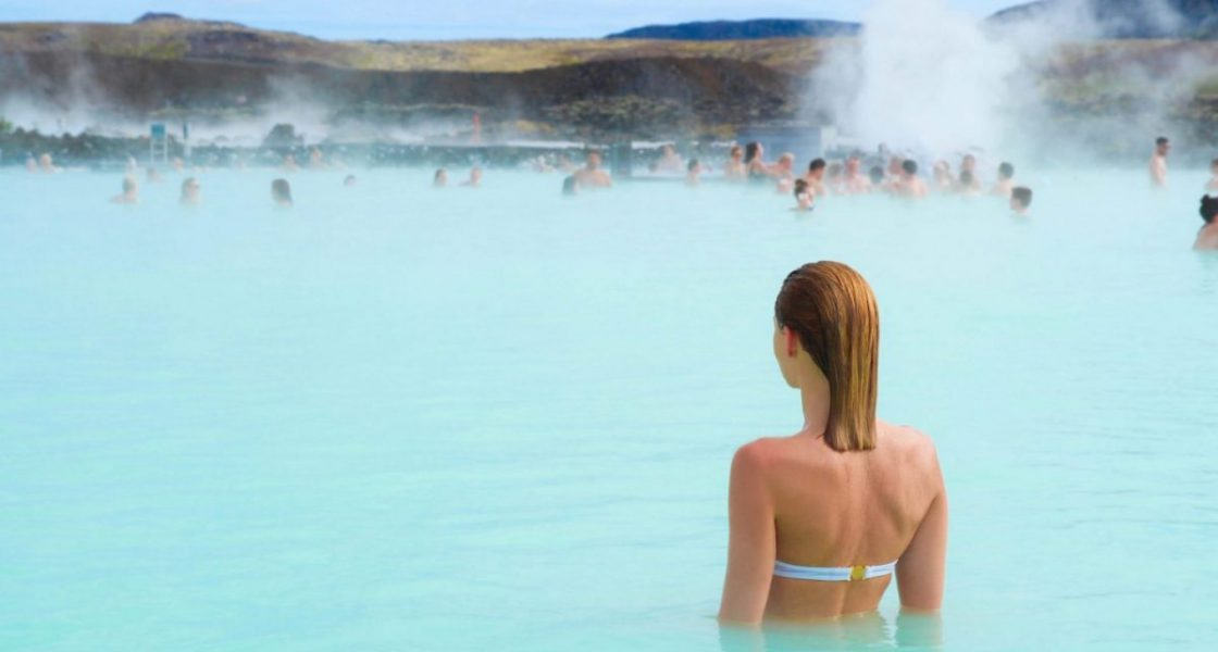 Woman,Enjoy,Of,Spa,In,Hot,Spring,Blue,Lagoon,In