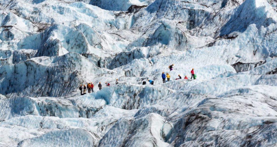 Randonnée sur le glacier en Islande