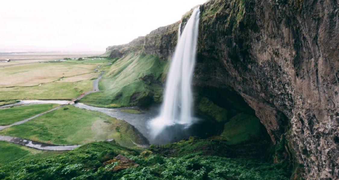seljalandsfoss waterfall in summer